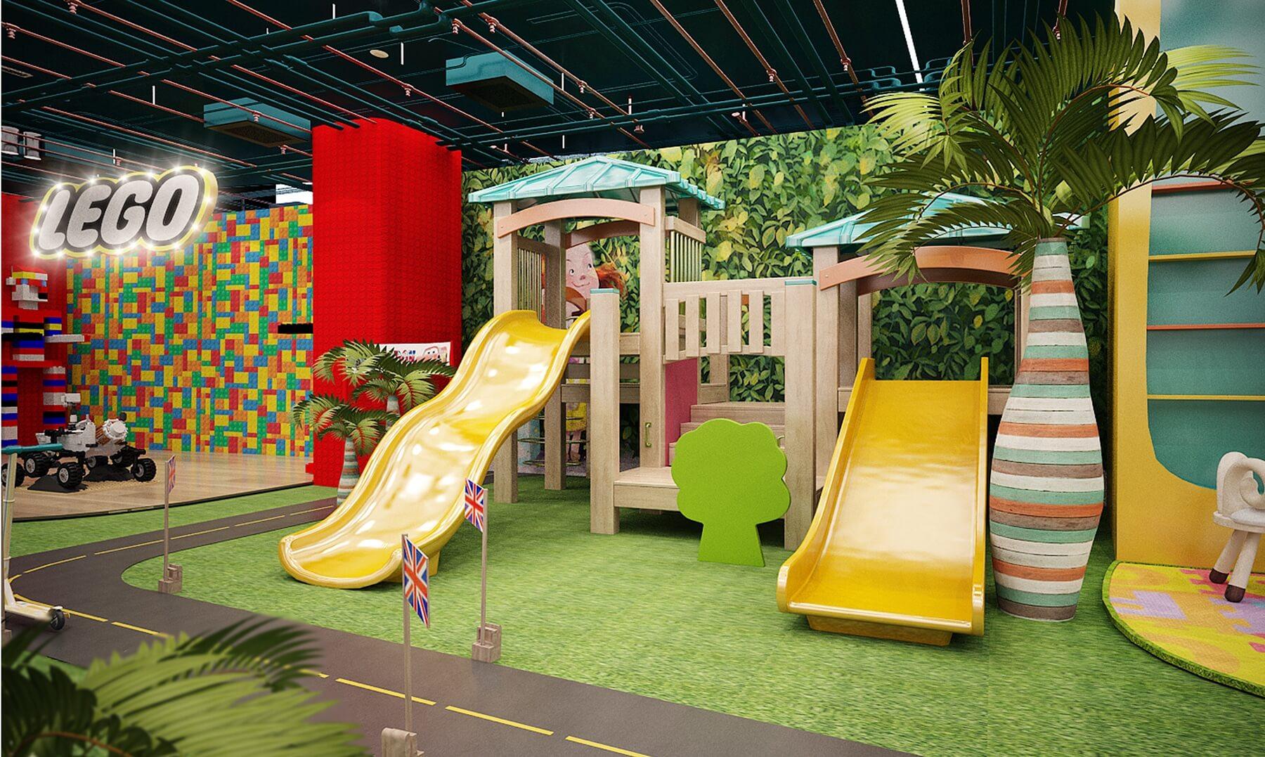 Phối cảnh 3D thiết kế khu vui chơi trong nhà tại Vũng Tàu