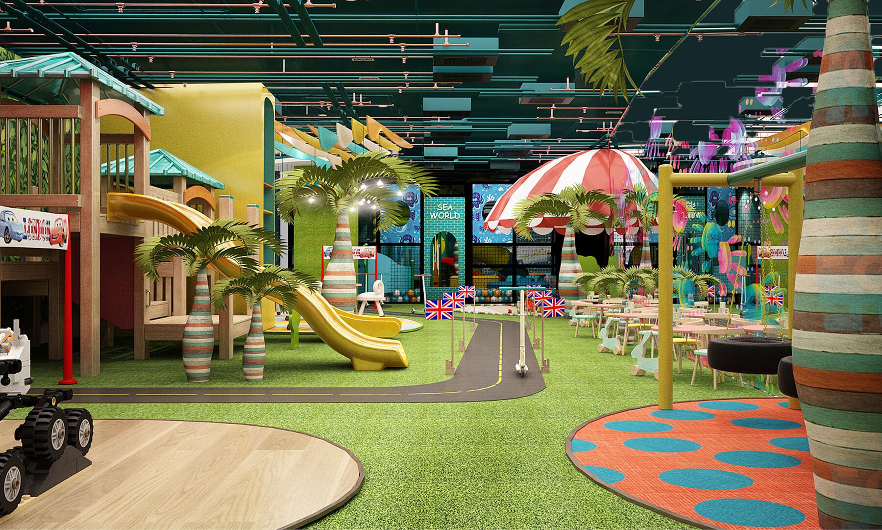 Phối cảnh 3D của khu vui chơi trẻ em trong nhà tại Vũng Tàu