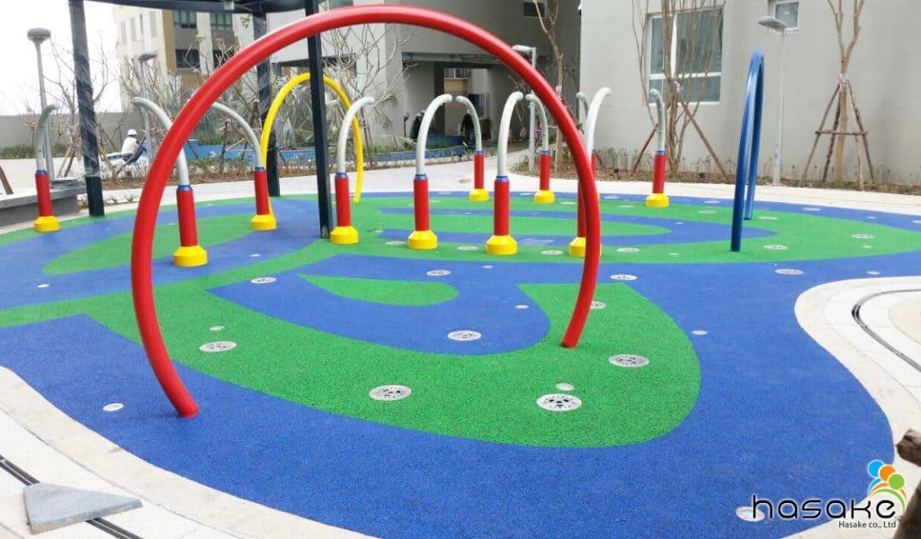 Sân chơi nước tại khu căn hộ cao cấp Season Avenue - Mỗ Lao - Hà Đông